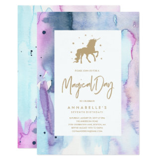 Unicorn Dream Birthday Invitation