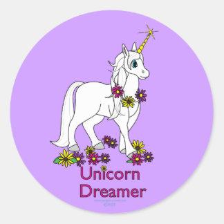 Unicorn Dreamer Classic Round Sticker