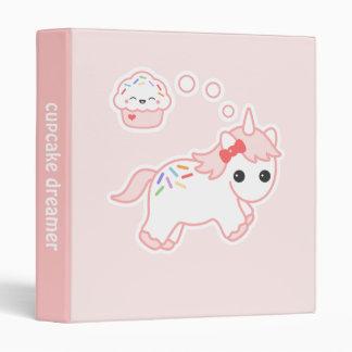 Unicorn Dreaming of Cupcakes Binder