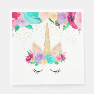 Unicorn Dreams Birthday Party Baby Shower Napkins