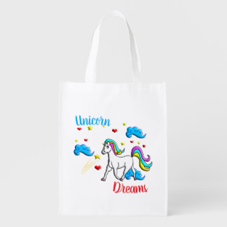 Unicorn Dreams Reusable Grocery Bag