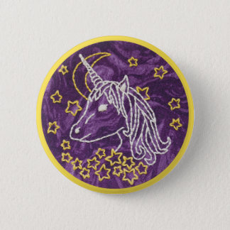 Unicorn Embroidery Button - Unicorn Button