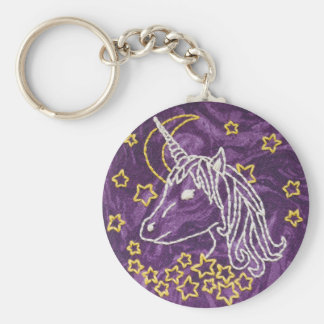 Unicorn Embroidery Keychain - Unicorn Keychain