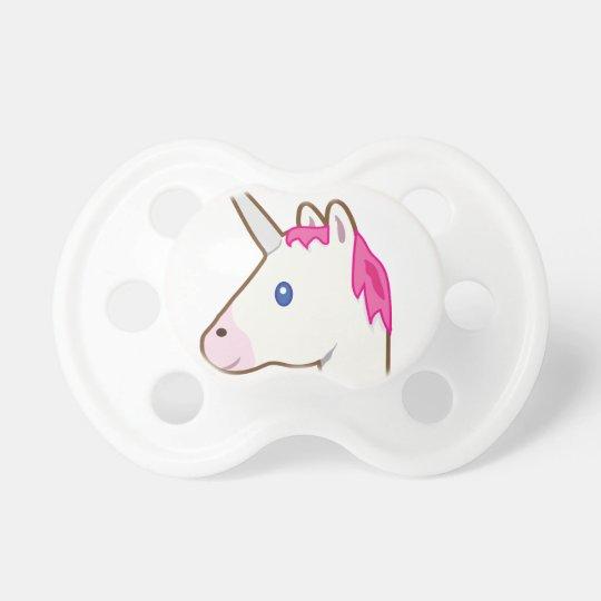 Unicorn emoji baby pacifier