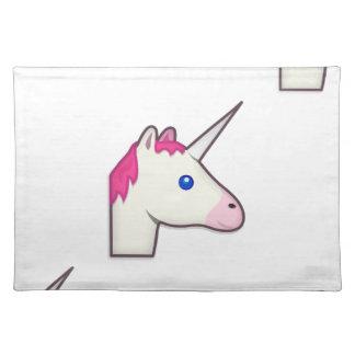 unicorn emoji placemat