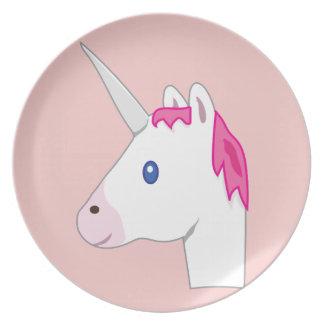 Unicorn emoji plates