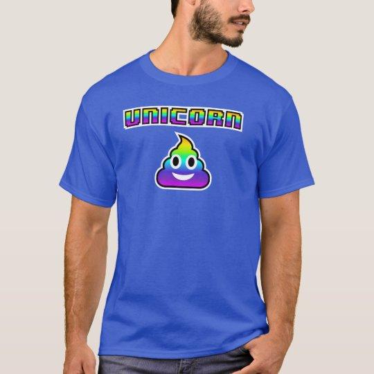 Unicorn Emoji Poop T-Shirt