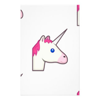unicorn emoji stationery