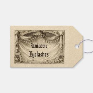 Unicorn Eyelashes Ingredients Label for Apothecary