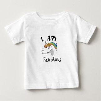 unicorn fabulous woman women mythical creature gri baby T-Shirt