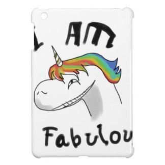 unicorn fabulous woman women mythical creature gri iPad mini cover