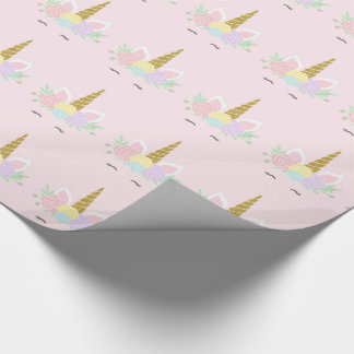 Unicorn Face Gift Wrapping Paper