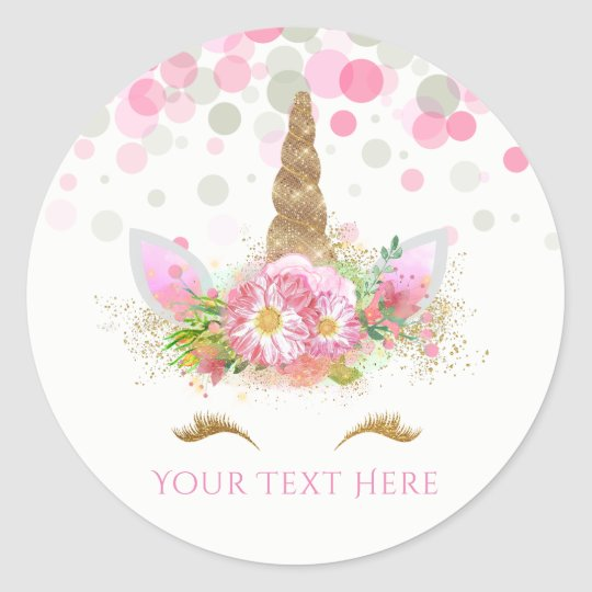 Unicorn Face Stickers Zazzle Ca