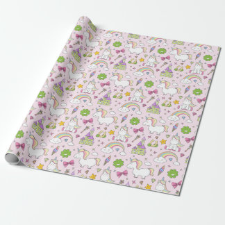 Unicorn fairytale pattern wrapping PAPERs Wrapping Paper
