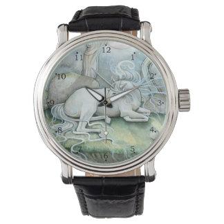 Unicorn Fantasy Art by Molly Harrison Wristwatches