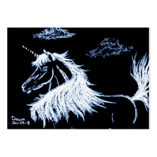 unicorn -fantasy horse equine pack of chubby business cards