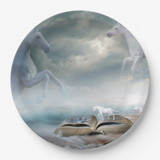 Unicorn Fantasy Party Paper Plates 9 Inch Paper Plate
