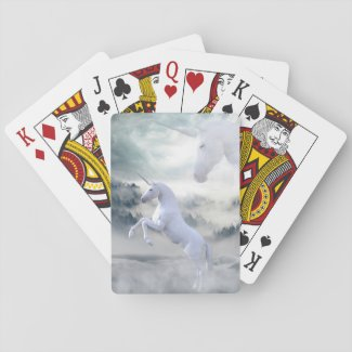 Unicorn fantasy playing cards