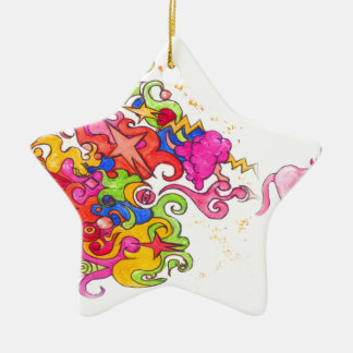 Unicorn Fart Ceramic Ornament