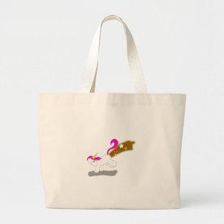 Unicorn Fart Large Tote Bag