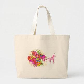 Unicorn Fart Large Tote Bag