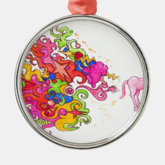 Unicorn Fart Metal Ornament