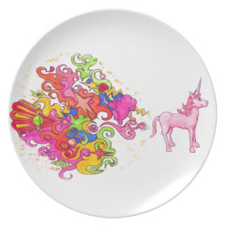Unicorn Fart Plate