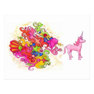 Unicorn Fart Postcard