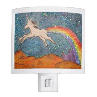 Unicorn Farting a Rainbow in the Sky Night Lights