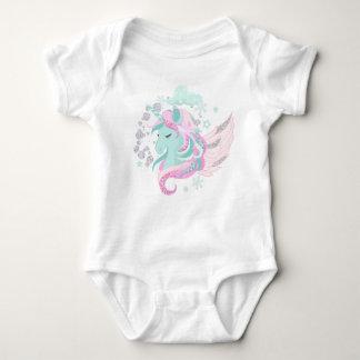 Unicorn Faux Glitter Baby Jersey Bodysuit