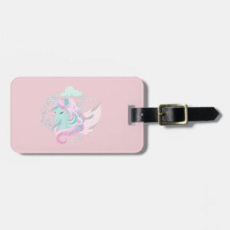 Unicorn Faux Glitter Luggage Tag
