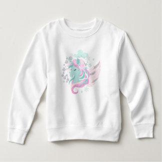 Unicorn Faux Glitter Toddler Fleece Sweatshirt