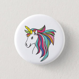 Unicorn Flare 1 Inch Round Button