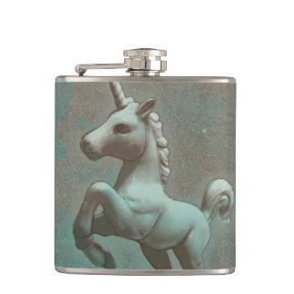 Unicorn Flask Vinyl Wrapped (Teal Steel)