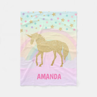 Unicorn Fleece Blanket, Small