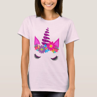 Unicorn Flowery Super Cute Girly T-Shirt
