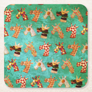 Unicorn Food Square Paper Coaster
