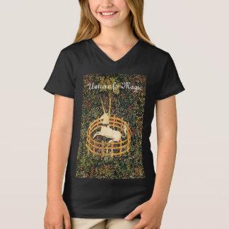 UNICORN FOR MAGIC, FANTASY FLOWERS,FLORAL MOTIFS T-Shirt