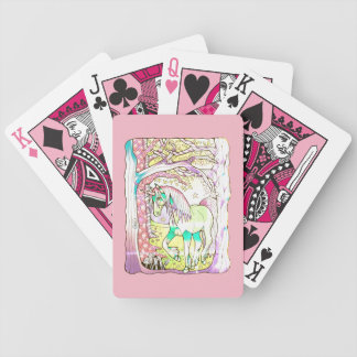 Unicorn Forest Bicycle Playing Cards