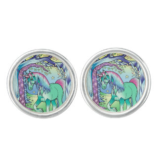Unicorn Forest Cufflinks