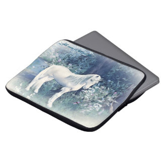 unicorn forest dream laptop sleeve