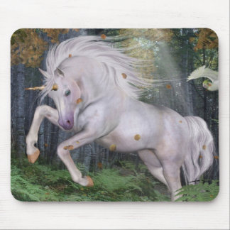 Unicorn Forest Stars Cristal Blue Mouse Pad