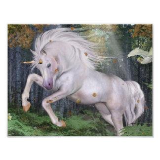 Unicorn Forest Stars Cristal Blue Photo Print