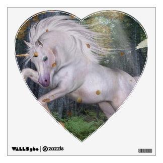 Unicorn Forest Stars Cristal Blue Wall Sticker