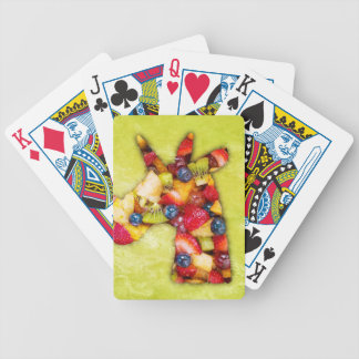 Unicorn Fruit Salad Bicycle Playing Cards