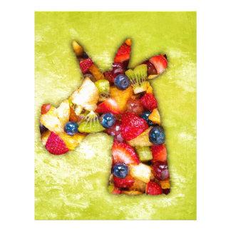 Unicorn Fruit Salad Letterhead
