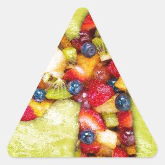 Unicorn Fruit Salad Triangle Sticker