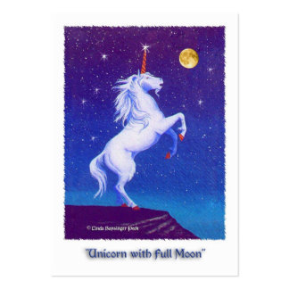 Unicorn Full Moon Painting Large Business Card
