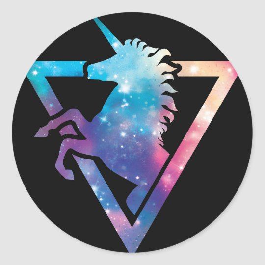 Unicorn Galaxy Sticker Zazzle Ca