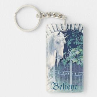 Unicorn garden keychain